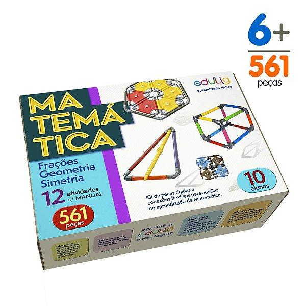 Brinquedo Educativo Edulig Matemática 10 alunos - com Manual do Professor