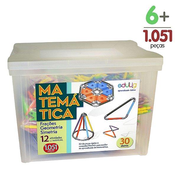 Brinquedo Educativo Edulig Matemática 30 alunos - com Manual do Professor