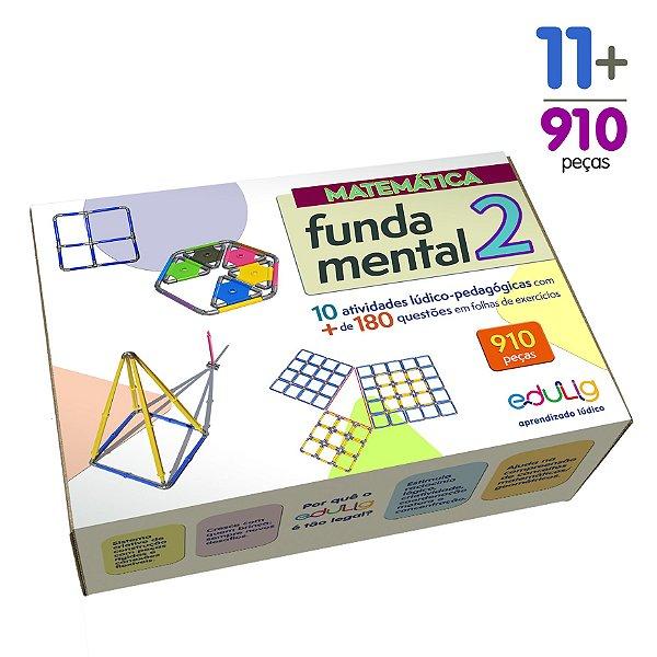 Brinquedo Educativo Edulig Matemática Fundamental 2 – 10 atividades e + de 180 exercícios