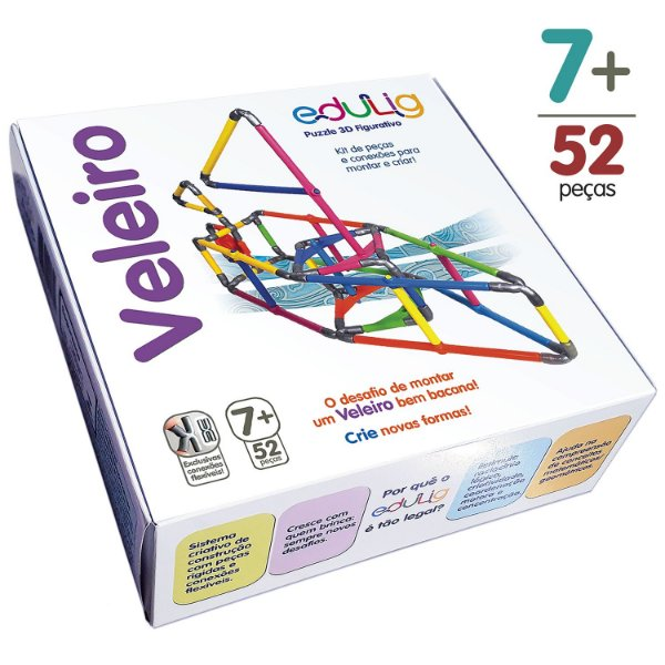 Quebra-cabeça Edulig Puzzle 3D Veleiro