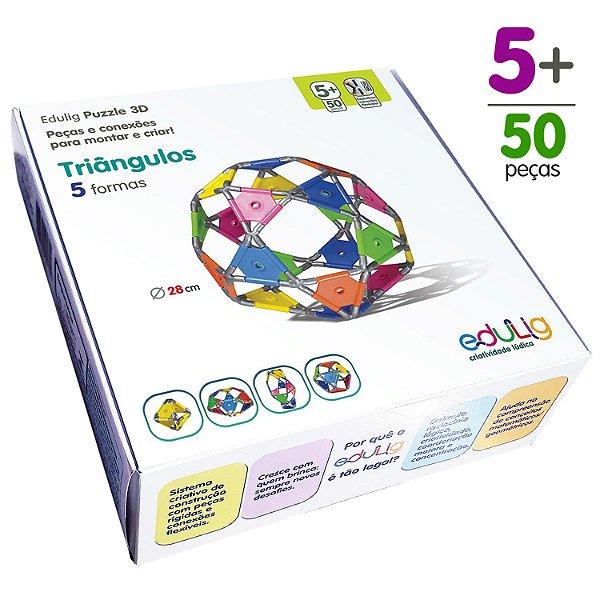 Quebra-cabeça Edulig Puzzle 3D Triângulos