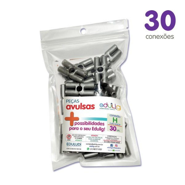Edulig Puzzle Peças Avulsas - Conexão H Furo Maior