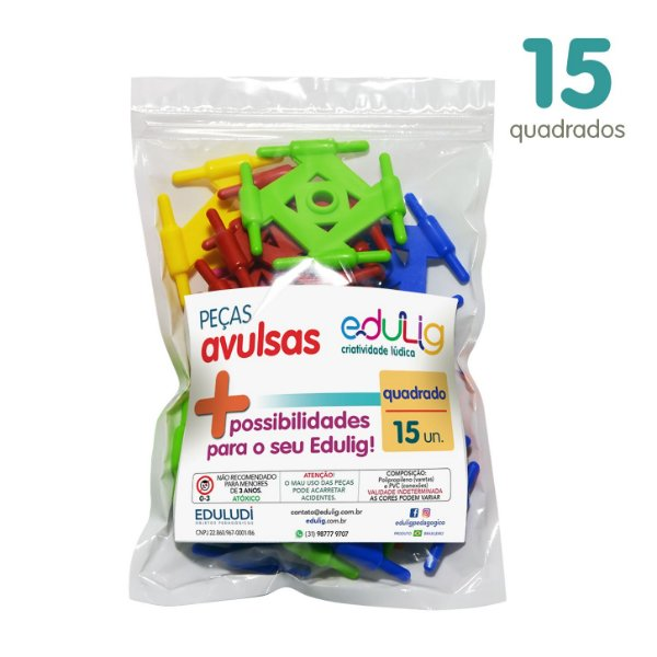 Edulig Puzzle Peças Avulsas - Quadrado