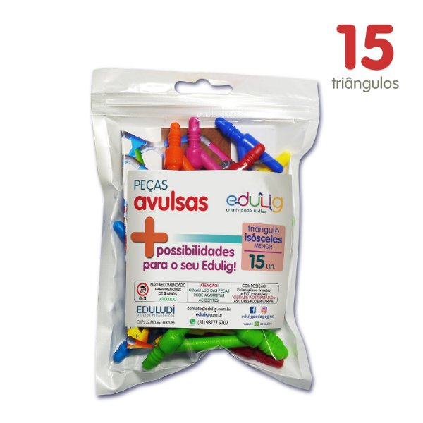 Edulig Puzzle Peças Avulsas - Triângulo Isósceles Menor