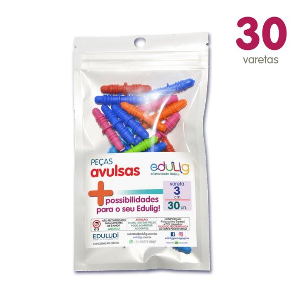 Edulig Puzzle Peças Avulsas - Vareta 3cm