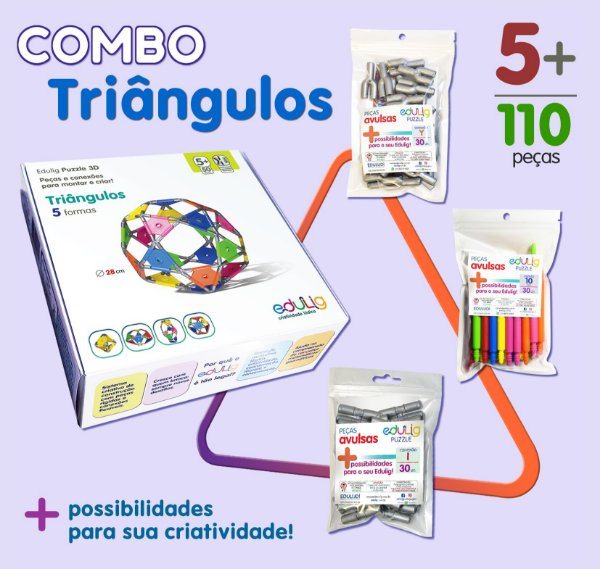 Combo Triângulos + Conexões Y + Conexões I + Varetas 10 cm