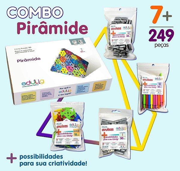Combo Pirâmide + Varetas 10cm  + Quadrados  + Conexões I + Conexões H