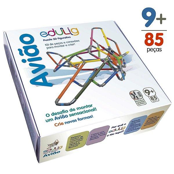 Quebra-cabeça Edulig Puzzle 3D Avião