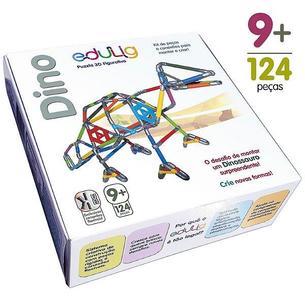Quebra-cabeça Edulig Puzzle 3D Dino