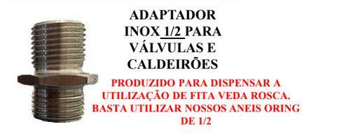 ADAPTADOR INOX PARA VALVULAS BSP 1/2