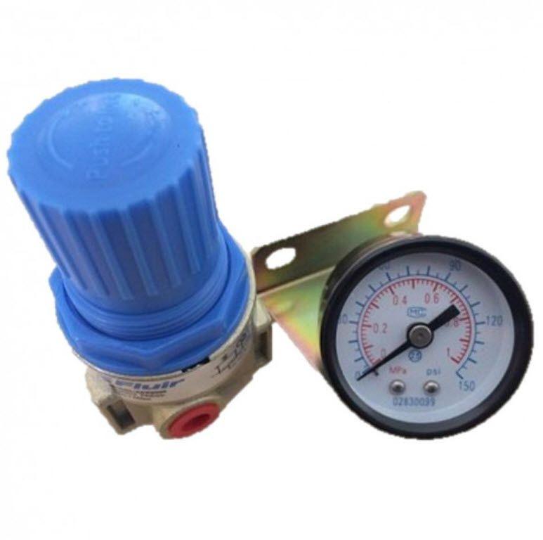Regulador Pressão Fluir 1/4 Mini com Manômetro 1/8 150 Psi