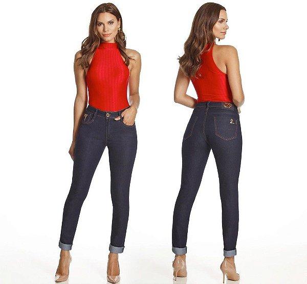 b0f995e1b Oppnus Jeans Calça Sknny Cós Alto - Pit Bull jeans soll modas
