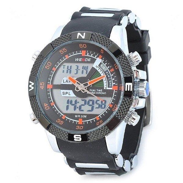 4bb36679e23 Relógio Masculino Weide AnaDigi Esporte WH-1104 Laranja ...