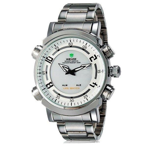 04a7252ca1f Relógio Masculino Weide AnaDigi Esporte WH-1101 Branco - ShopSublime ...