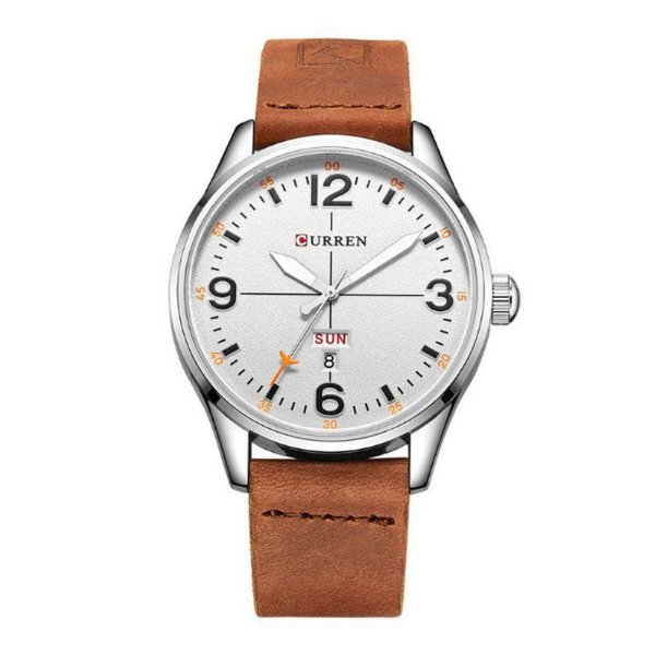 30f380563dc Relógio Masculino Curren Analógico 8265 Prata e Branco - ShopSublime ...