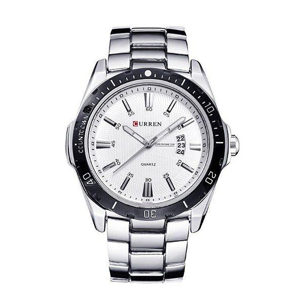 f842ae3c751 Relógio Masculino Curren Analógico 8110 Prata e Branco - ShopSublime ...