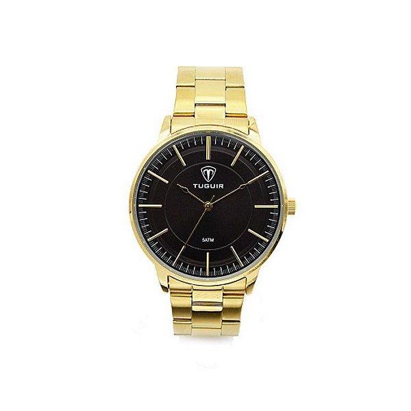 01b08a4db8f69 Relógio Masculino Tuguir Analógico 5000 Dourado - ShopSublime - Aqui ...