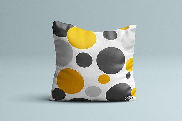 Almofada Círculos - Amarelo