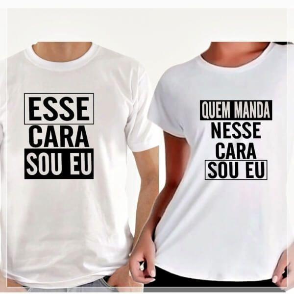 """2 Camisas Para Casal """"Quem Manda Neste Cara Sou Eu"""""""