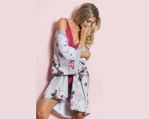 Robe Kimono Floral Lívia