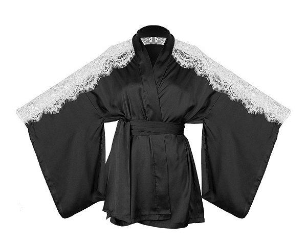 Robe Curto com Recorte em Renda Soho