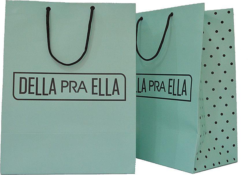 Sacola Personalizada - Papel Triplex 230 grs - 2x0 cores - alça cordão nylon preto - ilhós preto