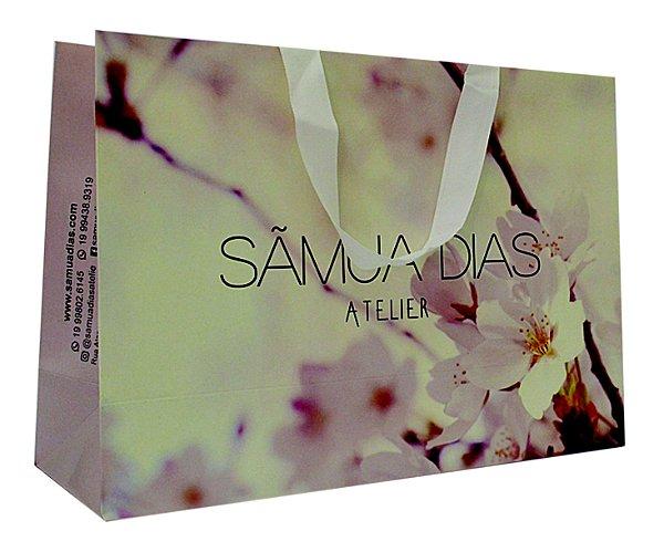 Sacola Personalizada - Papel Triplex 230 grs - 4x0 cores - alça gorgurão branca colada