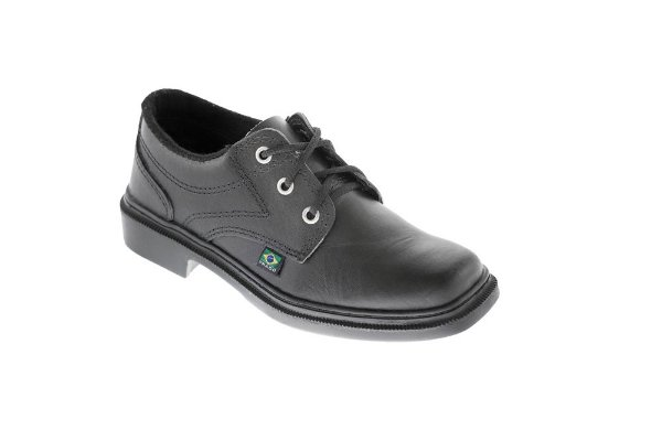 Sapato social de cadarço em couro vaqueta e sola de borracha