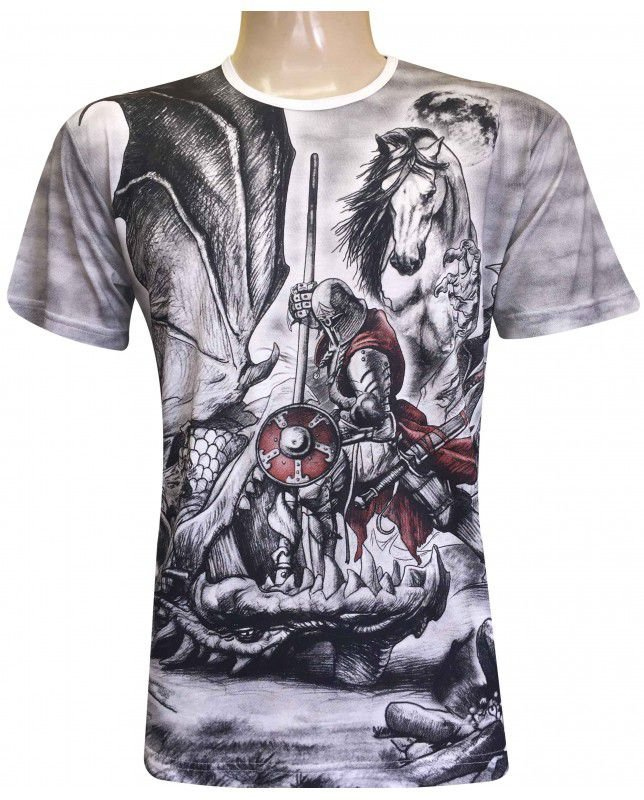 Camiseta São Jorge E Dragão (ind)