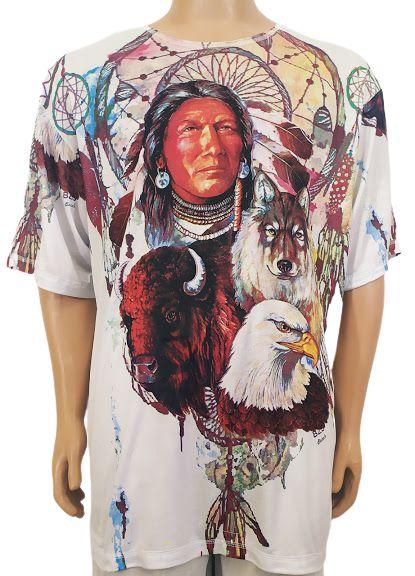 Camiseta Xamãnica Estampada EXG