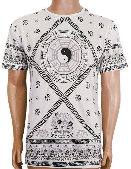 Camiseta Estampada Yin Yang