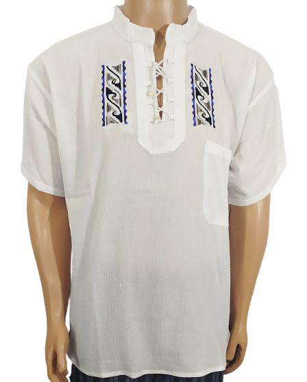 Bata Equatoriana Bordada Branca G