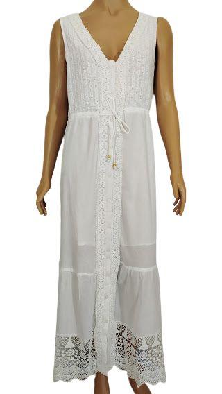 Vestido Lese Longo Branco GG