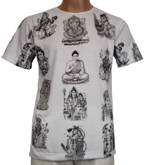 Camiseta Estampada Deuses M