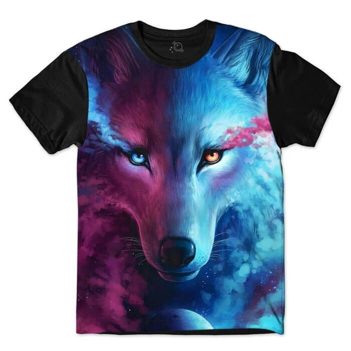 CAMISETA LIGHT AND DARKNESS WOLF