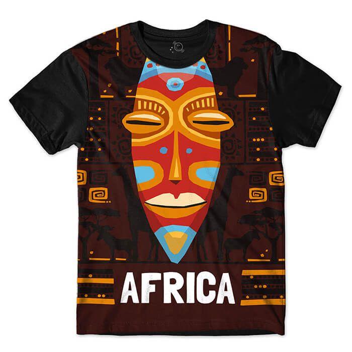 Camiseta Mascara Tribal Africana