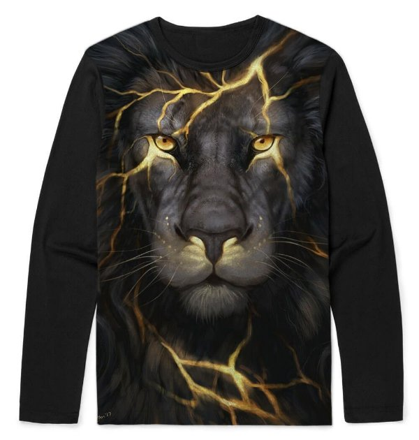 CAMISETA MANGA LONGA BLACK LION
