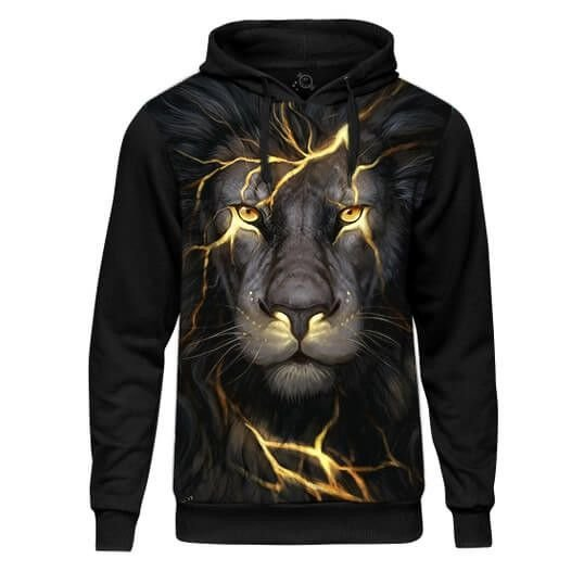 MOLETOM COM CAPUZ BLACK LION