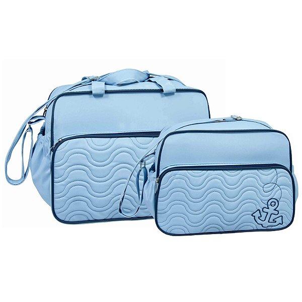 Conjunto Bolsa Maternidade Azul Marinheiro Lilian Baby