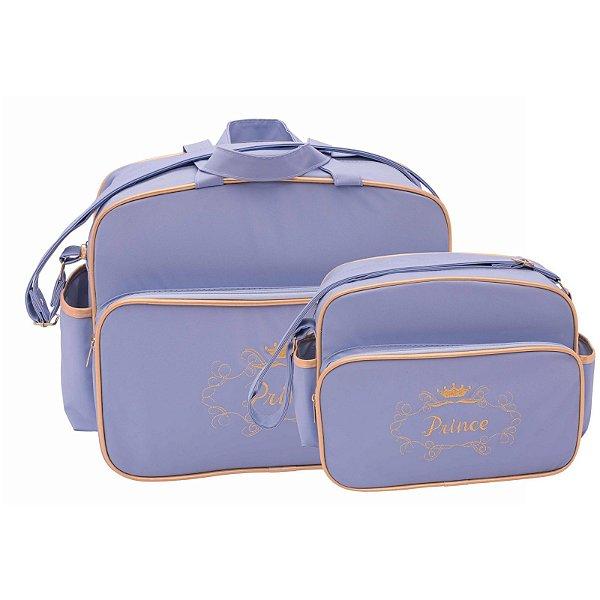 Conjunto Bolsa Maternidade Azul Príncipe Lilian Baby