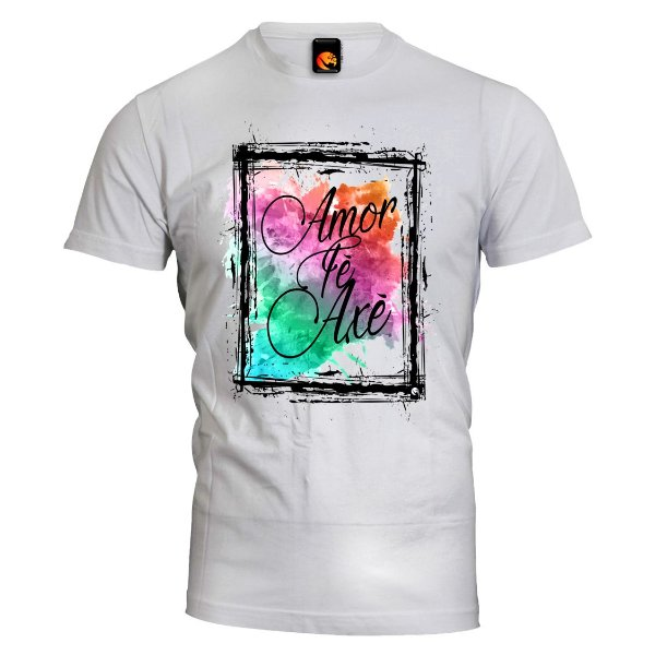 Camiseta Amor, Fé e Axé
