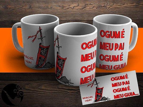 Caneca Ogum é Meu Guia