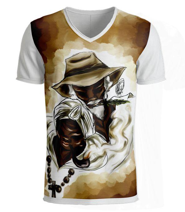 Camiseta - Preto-Velho Vovô e Vovó