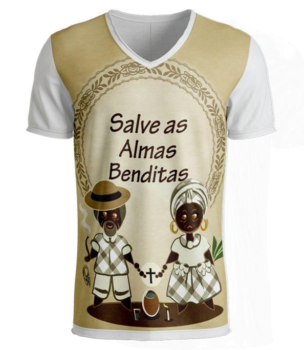 Camiseta Preto-Velho - Salve as Almas Benditas