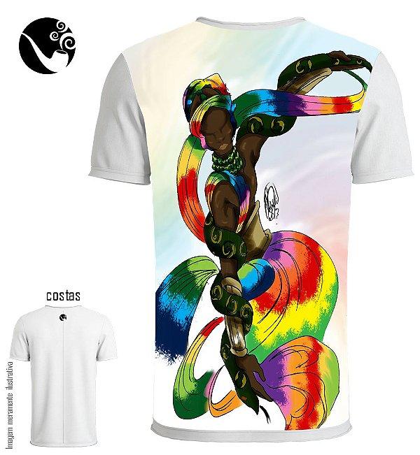 Camiseta Oxumarê - Arco-íris