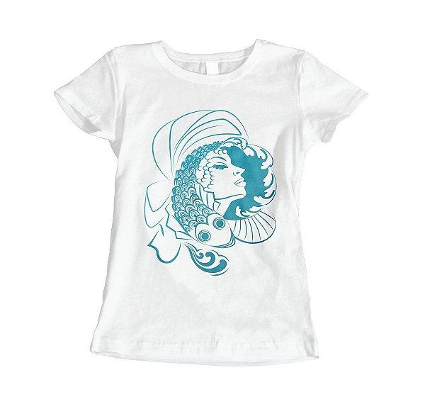 Camiseta Baby Look Iemanjá - Peixe de Pérolas