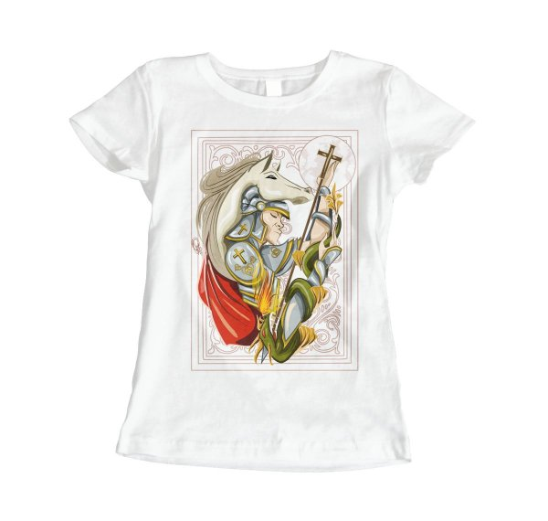 Camiseta Baby Look Sao Jorge - Quadro do Guerreiro