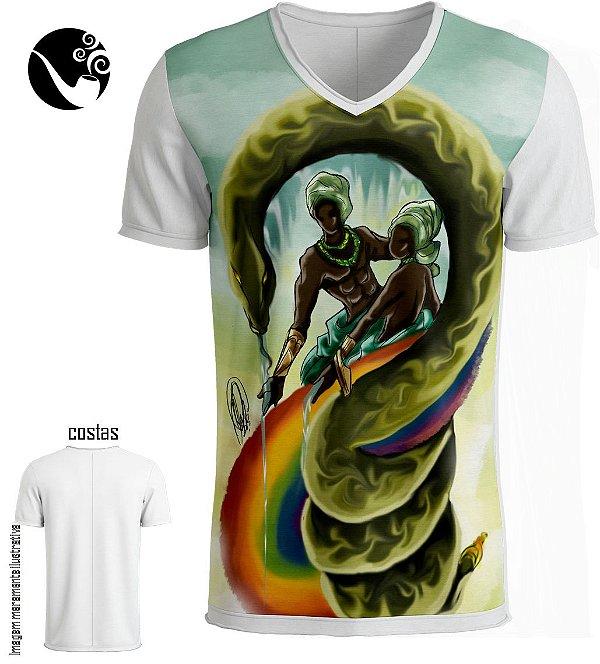 Camiseta Full Oxumarê - Cobra e Arco-íris