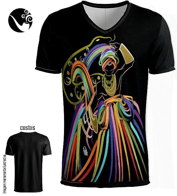 Camiseta Full Oxumarê - Preta