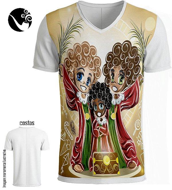 Camiseta Full Cosme, Damião e Doum - Baú